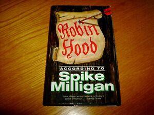 SPIKE MILLIGAN-ROBIN HOOD ACCORDING TO-SIGNED-1ST-VG/NF-1998-HB-VIRGIN-RARE