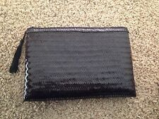 Black Hand Woven Clutch Purse