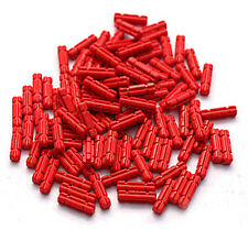 LEGO Technic 100 pcs RED NOTCHED AXLE SIZE 2 Length Short Connector Part 32062