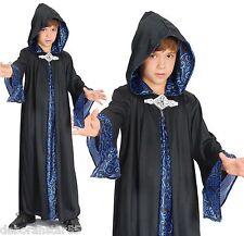 Childs Wizard Robe Costume Boys Girls Magician Fancy Dress Medium 7 - 9 Years