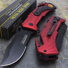 Tac-Force Fire Fighter Tactical Speedster pocket knife with seat belt  TF-688fd