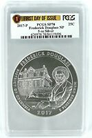 2017 P Frederick Douglass National Park 5oz Silver PCGS SP70 First Day Issue