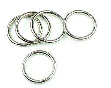 """Nickel Plated Steel Rings Welded 1 1/2 """" Eye Size-10 Pcs"""