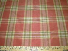 """~6 1/8 YDS~FAUX SILK """"CHECKERED PLAID""""~ DRAPERY UPHOLSTERY FABRIC FOR LESS~"""
