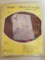 NOS Vintage WonderArt Kit Lamb Flowers Wool Yarn COVERLET  Blanket # 1652