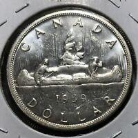 CANADA 1959 SILVER DOLLAR HIGH GRADE CROWN COIN