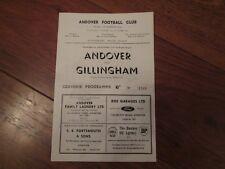 1962/3 ANDOVER v GILLINGHAM (NON LEAGUE IN FA CUP)