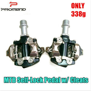 Promend MTB Bicycle Self-lock Pedals Mountain Bike Racing Pedal w/ SPD Cleats