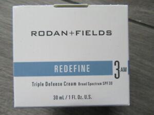 RODAN+FIELDS REDEFINE TRIPLE DEFENSE CREAM, 3 AM, NIB $90, 30 ML/1 FL OZ, 12/22
