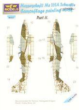 LF modelli M4847 1/48 CAMOFLAGE MASCHERA Me262A Schwalbe (ha / TAM / rev) parte II
