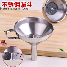 Stainless Steel Wine Funnel Oil Sauce Coffee Filter Bottle Funnel Kitchen Tool