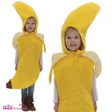 Garçons Filles Banane Jaune Déguisements Costume Taille Unique 3-7 ans