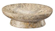 Fleur De Lis Living Root Fossil Stone Oval Soap Dish