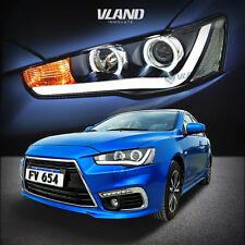 LED Headlights For all Mitsubishi Lancer / Evo X Angel Eye Projector Head Light