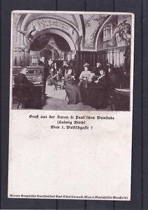 Alte Karte Gruß aus der Baron di Pauli´schen Weinstube Wien 1 Walfischg.
