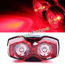 2 LED Super Bright Cycling Bicycle Bike Safety Rear Tail Flashing Light Lamp