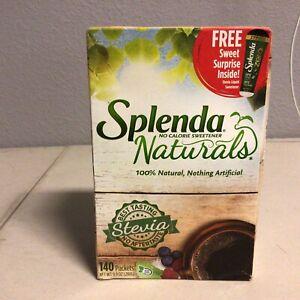 SPLENDA Naturals Stevia Sweetener Packets (140 Packets) FREE SHIPPING