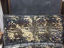 """Gorgeous antique Victorian tin ceiling pressed Fleur de lis pattern 24.75 x 48"""""""