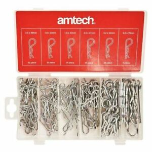 Amtech 150 Piece Cotter Pins Assorted Hair Pin Set R Clip Retaining Hitch Lynch