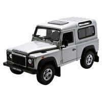 Welly 22498 Land Rover Defender silber Maßstab 1:24 Modellauto NEU! °