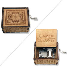 Music Box Hand Crank Musical Box Carved Wooden The Theme Song of Game of Thrones