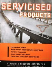 Servicised Products Catalog ASBESTOS ASPHALT Bridge Planking Deck Roadway 1945