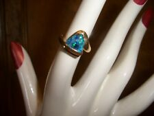 10k gold mosaic opal ring Size ~ 6 1/4. October birthstone stamped 10k