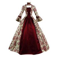 Women Medieval Dresses Vintage Marie Antoinette Christmas Ball Gown Costumes UK