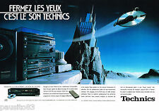 PUBLICITE ADVERTISING 065  1987  TECHNICS  platine laser SL P720 ( 2p)