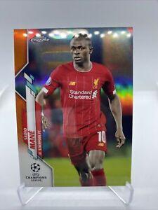 2019-20 Topps Chrome Soccer - Sadio Mane Orange /25 Liverpool FC