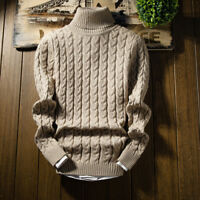 Fashion Men's Cotton Sweaters Turtle Neck Men Turtleneck Sweater Stretch jumper