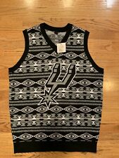 San Antonio Spurs Men's Sweater Vest Ugly sweater style Size S NEW WITH TAGS