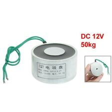 Sucked Electric Lifting Magnet Electromagnet 12VDC 50Kg 110LB 50x27mm K9G8 Q8D1
