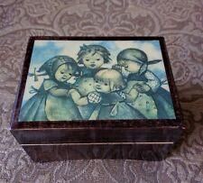 "Vintage Hummel Sankyo Music Box Made in Italy, Japan Movement ""Blue Danube"""