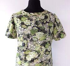 60s MOD Dress VINTAGE Green Floral Dropper Waist RETRO 1960s SCOOTER Dress 10