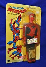 """Amazing Spiderman """"Fly Away Action"""" Action Doll,Mego,12""""doll,Store card,1979"""