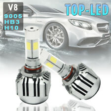 V8 9005 H10 HB3 6000K 12000LM Car LED Turbo Headlight Kit Driving Light Lamp 80W