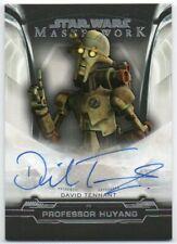 2019 Star Wars Masterwork Autographs A-DT David Tennant Professor Huyang Auto
