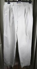Polo by Ralph Lauren Beige Chino Cotton Pleated Front Khakis Trousers W34 L33.5