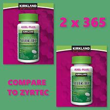 Kirkland 2 x 365 Tab.Aller-Tec Allergy Cetirizine HCL/ Antihistamine 10mg  730Ct