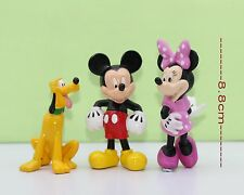 Disney Mickey Mouse & Friends Mini Figures 3-pcs set Mickey Minnie Pluto #414Dmc