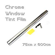 6M x 75CM specchio cromato in argento 15% auto Window Tint Film Roll colorazione