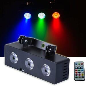 E-Lektron MS-3 Multi-Spot 3-fach LED Strahler R/G/B Musiktakt gesteuert - NEU
