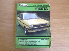 AUTODATA FORD FIESTA 1976-1983 CAR REPAIR MANUAL