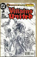 Villains United #1-2005 nm 9.4 2nd Variant Sketch Cover 1st app new Secret Six