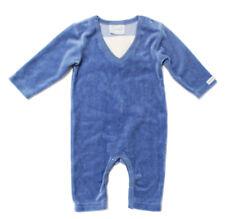 NWT Coccoli Baby Boy Blue Velour One-Piece ~ Size 3 Month