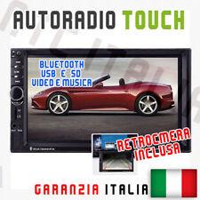"AUTORADIO NTC Touch 2 Din 7"" Universale MP3 DVR SD BLUETOOTH AUX + RETROCAMERA"