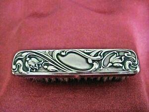 brosse à moustache art nouveau argent Hermann Behrnd 1881
