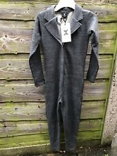 New ONEPIECE of NORWAY Quality Grey All In 1 Jumpsuit Loungewear Size S Rrp £99