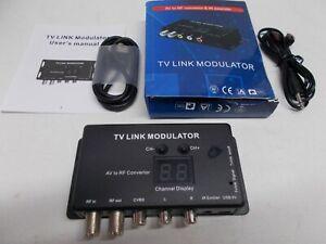 Modulatore TV  Convertitore con IR extender  AV  to RF  stereo